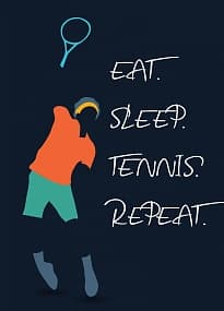 Магнит EAT. SLEEP. TENNIS. REPEAT.